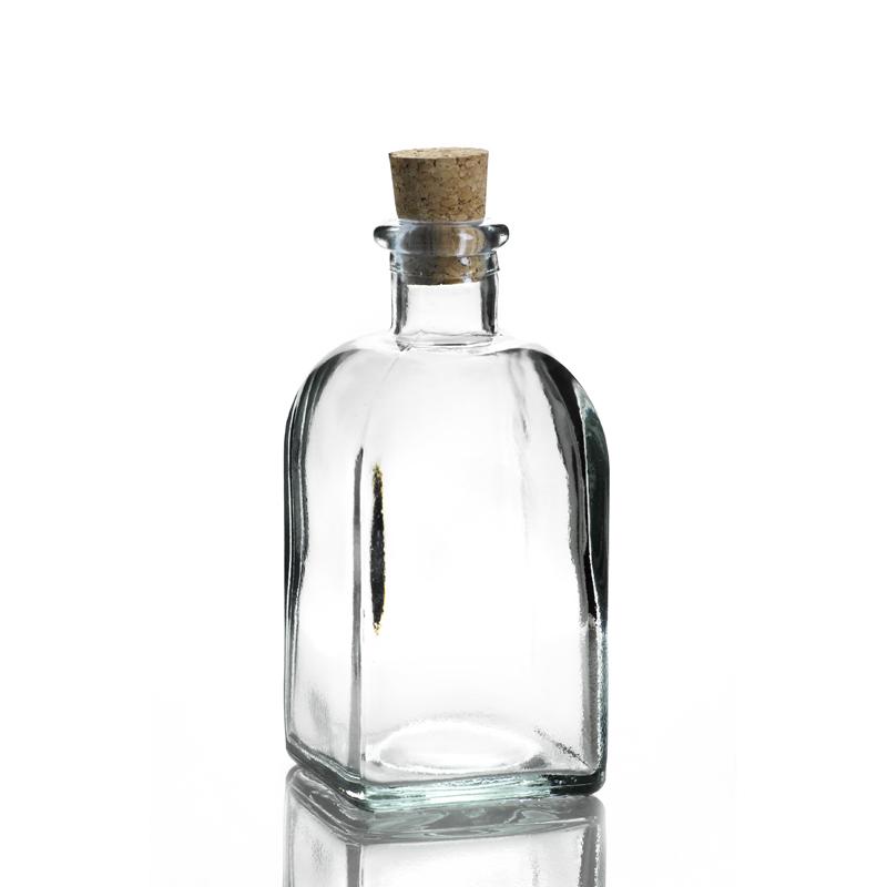 6 bouteilles 250 ml frasco carr e en verre recycl mcm emballages - Bouteille en verre vide ikea ...