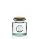 1 grand bocal Rond 1,5 litre en verre avec bouchon en liège