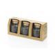 3 pièces Bocaux ronds 250 ml Authentic avec bouchon en liège