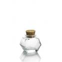 24 mini jars HEXAGONAL 40 ml, with cork stopper