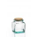 6 Bocaux Carrés 250 ml en verre avec bouchon en liège