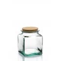6 bocaux carrés en verre avec bouchon en liège 500 ml