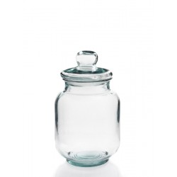 glass beverage dispenser, 6 liters with tap pourer