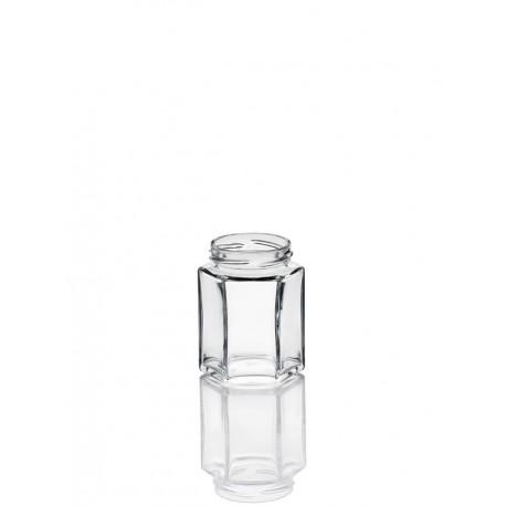 15 bocaux Hexagonaux 190 ml en verre