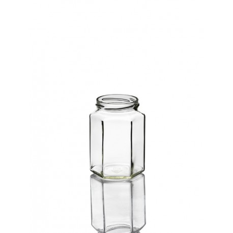 20 Bocaux en verre Esagonale 314 ml