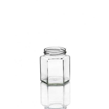 11 Bocaux Hexagonaux 390 ml, en verre