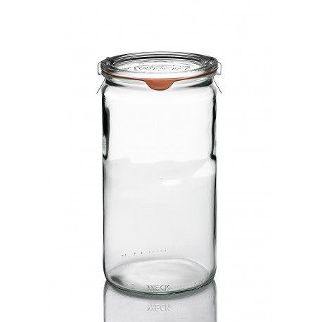 12 glass jars Tubes 600 ml