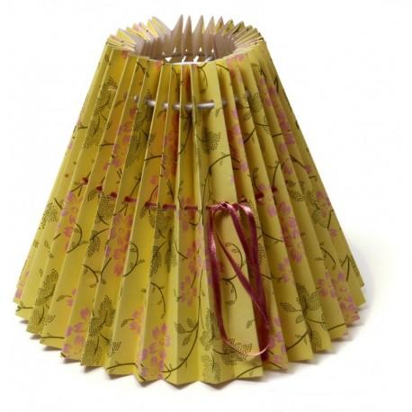 Abat-jour en papier Yellow On Stem, petit modèle 16 cm, Design danois Rie Elise Larsen