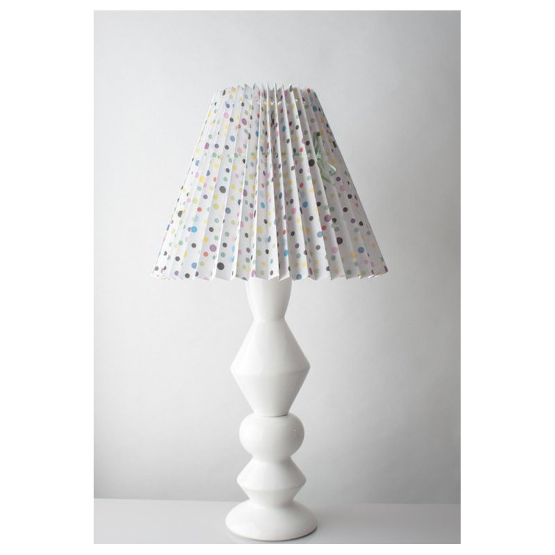 pied de lampe en c ramique blanc grand mod le 52 cm designer danoise elise larsen support. Black Bedroom Furniture Sets. Home Design Ideas