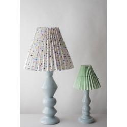 Pied de lampe en céramique Bleu clair, grand modèle, 52 cm, designer danoise Elise Larsen