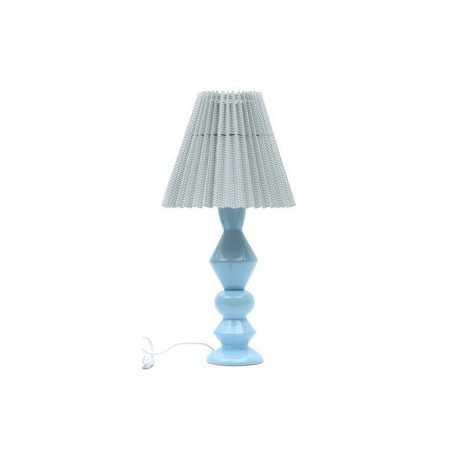 Pied De Lampe En Ceramique Bleu Clair Grand Modele 52 Cm Designer