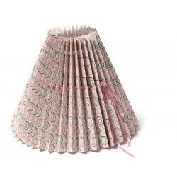 Abat-jour en papier Light Pink Ocean, Grand modèle 28 cm, Design danois Rie Elise Larsen