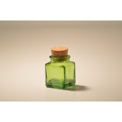Lot de 24 mini bocaux Verts Carrés 30 ml en verre 100% recyclé