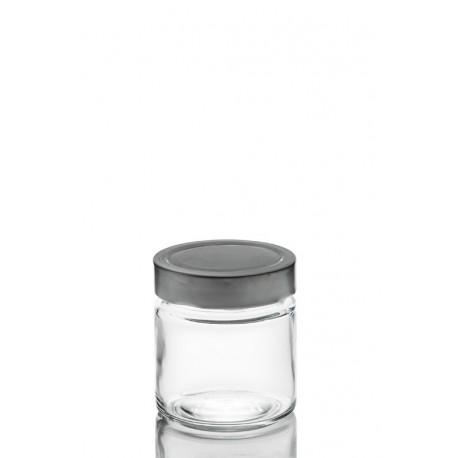 8 bocaux en verre ERGO MIO 212 ml, avec capsule Deep TO 70 mm argent