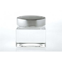 12 Square jars SHENTE 212 ml with capsule Deep Ø 76 mm not included.