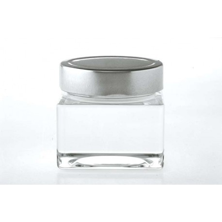 12 bocaux Carré SCHENTE, 212 ml avec capsule à visser