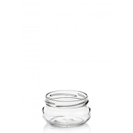 18 bocaux PORZIONE 120 ml avec capsule diamètre 70 mm