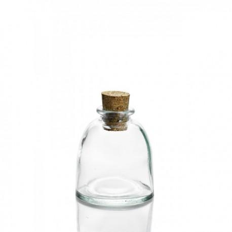 24 Mini bocaux / flacon BIZANTINA avec bouchon liège 150 ml