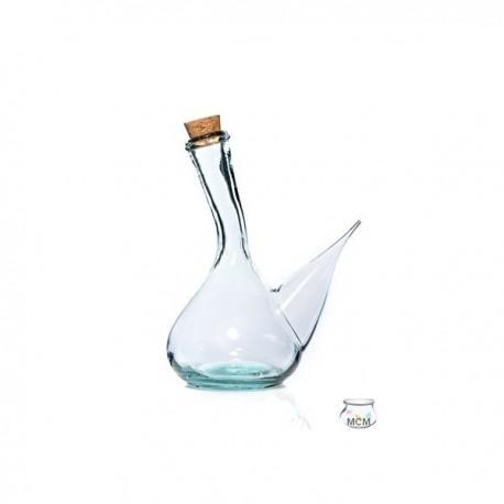 """Huilier ou vinaigrier espagnol, en verre """"traditionnel"""", modèle Porron Maquina, 80 ml"""