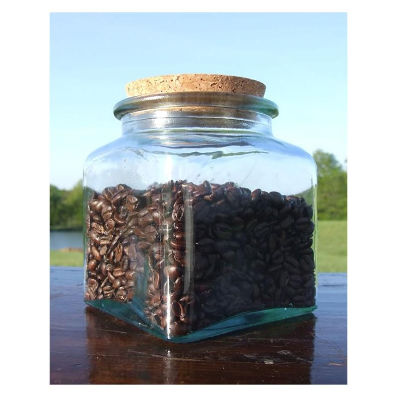 6 bocaux carr s 500 ml en verre avec bouchon en li ge mcm emballages. Black Bedroom Furniture Sets. Home Design Ideas