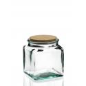 Mini bouteille Frasco carrée 100 ml bleue avec bouchon liège