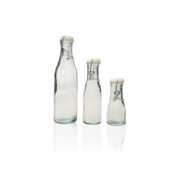 6 bouteilles en verre 100% recyclé avec fermeture à cannette (type limonade) modèle Relief Hermetico 500 ml
