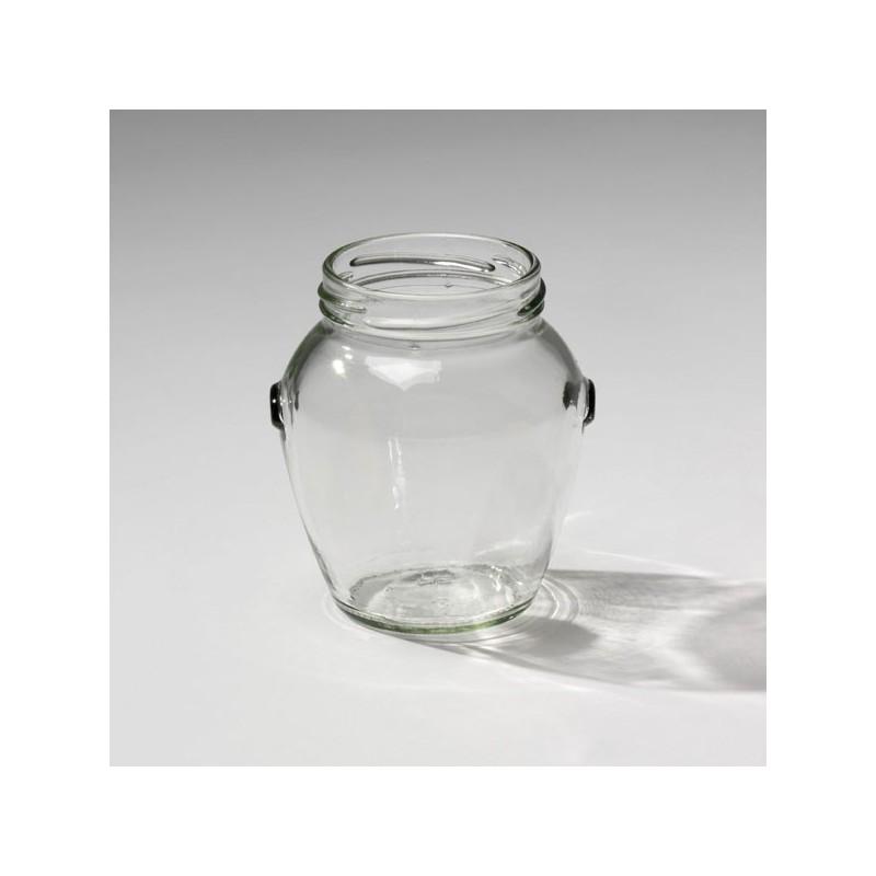 12 bocaux en verre orcio 314 ml to 63 mm avec capsules incluses. Black Bedroom Furniture Sets. Home Design Ideas