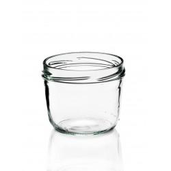 18 Bocales en vidrio TARRO con cápsula metálica, capacidad 230 ml cápsula incluida