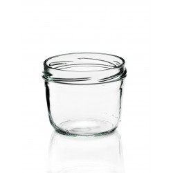 18 glass jars Terrine 230 ml with twist-off caps included TO 82 mm 230 ml capsules provided