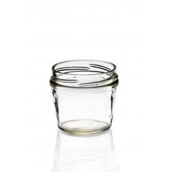 23 TERRINES-Glasgefäße in Glas 105 ml TO 63 mm mit eingeschlossenen Kapseln