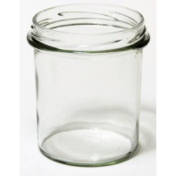 6 glass Jars Bontà Conico 350 ml TO 82 mm with capsules included