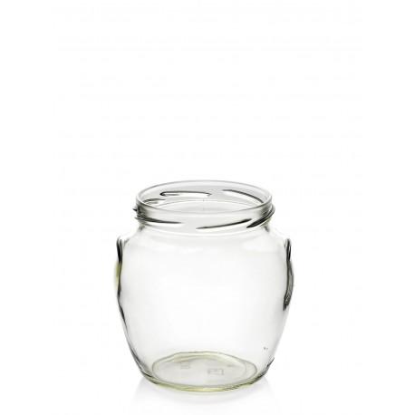 Bocal en verre Orcio 580 ml TO 82 mm
