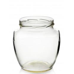 5 tarros en vidrio para la conserva ORCIO 1700 ml TO 110 mm., con cápsulas incluidas