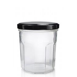 """6 Bocaux à confiture Classic Ménage 324 ml avec capsule TO 82 mm  (type """"Bonne Maman"""")"""