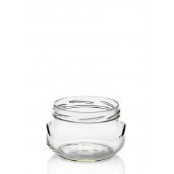 16 PORZIONE-flessen in glas 218 ml doorsnede 82 mm ingesloten doppen