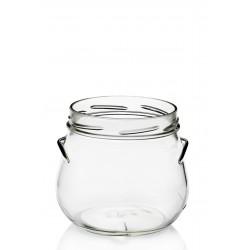 4 bocales en vidrio PORZIONE 640 ml diámetro TO 100 mm. con cápsulas incluidas