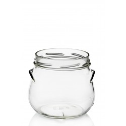 4 glass jars PORZIONE 640 ml diameter TO 100 mm with capsules understood