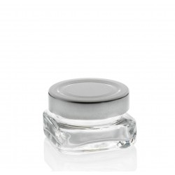 24 Gläser TAO 40 ml quadratisch, tiefe Kapsel Ø 58 mm Nicht enthalten
