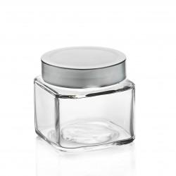 16 bocaux TAO 314 ml forme carrée avec capsule Deep argent TO 70 mm