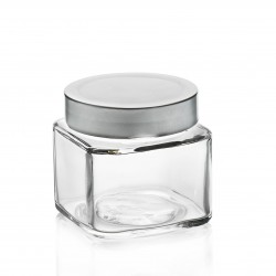 16 glass jars  VASO TAO with capsule DEEP not included color silver or black (not included)