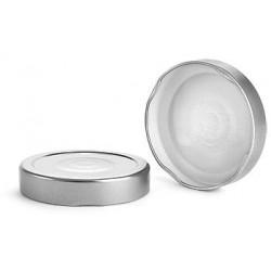10 caps DEEP Ø 76 mm Silver color for pasteurization