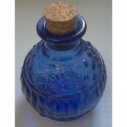 6 mini flacons / mini bocaux 150 ml MIGUEL ANGEL VENECIANA  bleus avec bouchon liège