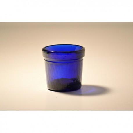 Lot de 6 photophores ROUND VOTIVE Bleus en verre 100% recyclé
