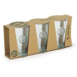 Lot de 3 verres hauts Authentic en verre recyclé