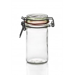 13 Jars with quill called also mechanical closing Ermetico (standard Fido jar), capacity 277ml