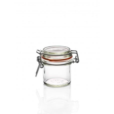 18 bocaux en verre Ermetico 125 ml