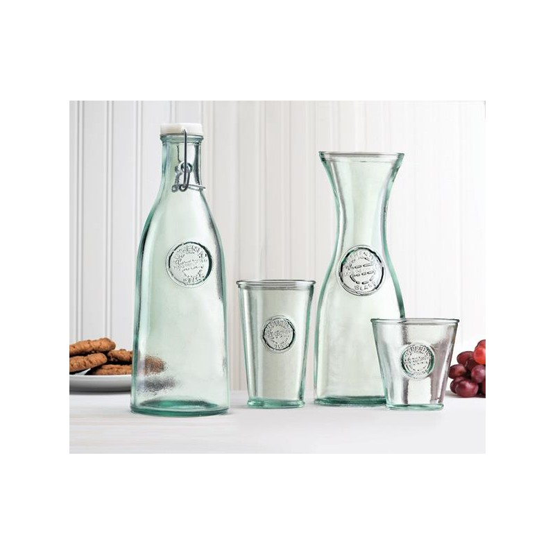 carafe authentic en verre 100 recycl 800 ml 25 cm mcm emballages. Black Bedroom Furniture Sets. Home Design Ideas