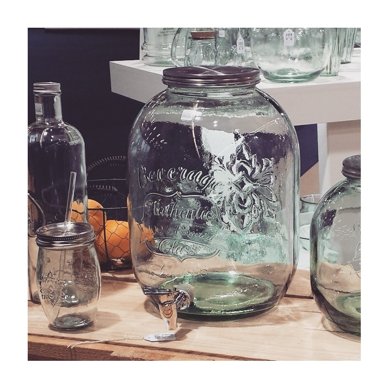 Bottle Autenthic Style Mason Jar With Tap 12 5 L Height 35 Cm