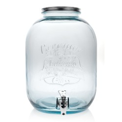 BOTTLE AUTENTHIC STYLE MASON JAR WITH TAP 12.5 L. HEIGHT 35 CM