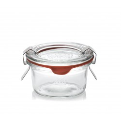 12 WECK® jars DROIT 50 ml mold shape with rubber rings and glass lids (clips not included)